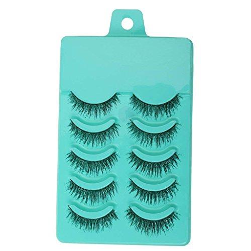 Electomania® 5 Pairs Fashion Beauty Makeup Handmade False Eyelashes Messy Cross Style