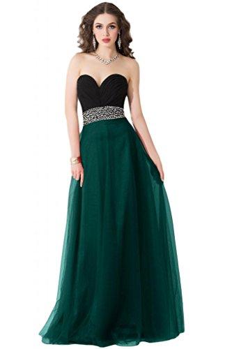 Sunvary elegante scollo Sweetheart vestito damigella d'onore Maxi abito da sera Pageant Gowns Dark Green