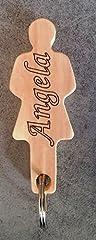 Idea Regalo - Generico Portachiave DONNA in legno con NOME PERSONALIZZABILE portachiavi moda originale