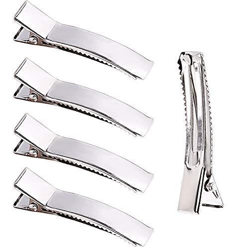 Metall Haarklemmen, Jdesun 50 Stück Metall Krokodilklemmen Alligator Haarclips Abteilklammern Friseur DIY Zubehör für Damen und Mädchen - 5cm