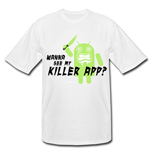 Original My Internet Computing Killer App Android White Males Shirt Large