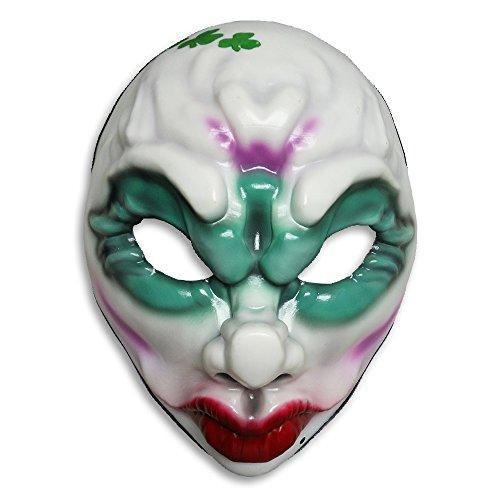 Payday 2 Maske Clover aus Vinyl bedruckt, für Erwachsene, mit (Payday Maske 2 Kostüm)