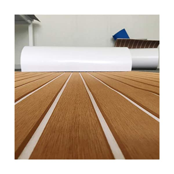 yuanjiasheng 90×240cm EVA Synthetic Boat Decking Sheet Yacht Marine Flooring Anti Slip Carpet With Backing Adhesive,Bevel Edge 8
