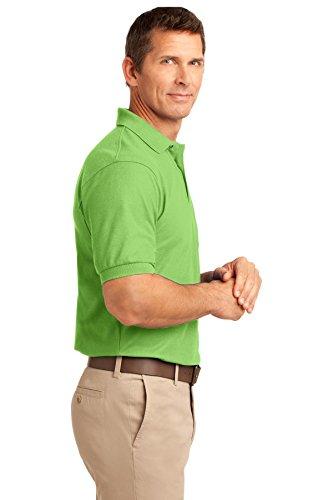 Port Authority Herren Button-down Poloshirt Lime
