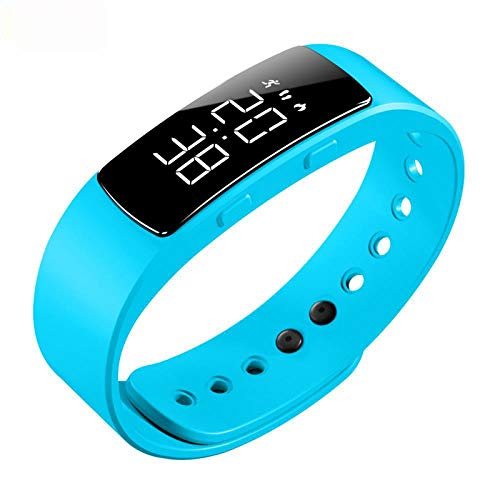Sports Waterproof Ring Simple Alarm Clock Watch Vibration Electronic Watch, Ice and Snow Blue
