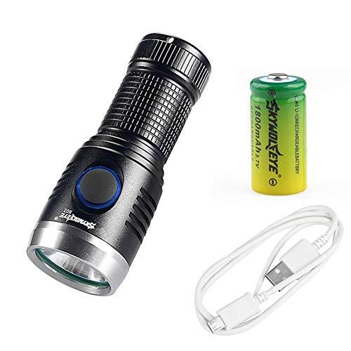 QueenHome R02 Mini Glare 16340USB Wiederaufladbare Taschenlampe EDC-Serie. R02 Series