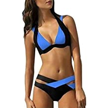 Covermason Mujer Push-up Acolchado Sostén Bikinis Cabestro Trajes de Baño