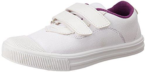 Duke Unisex White School Shoes