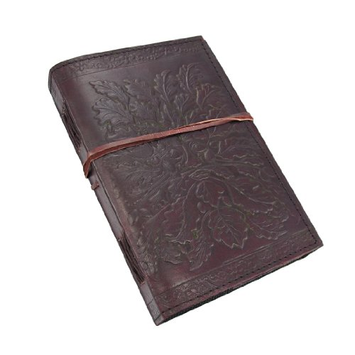 (Embossed Leather Greenman Journal 120 Page Unlined Dream Book)