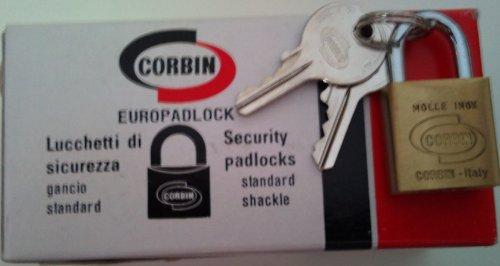 CORBIN Euro tende serratura monochiave VHS 20mm incl. 2chiavi