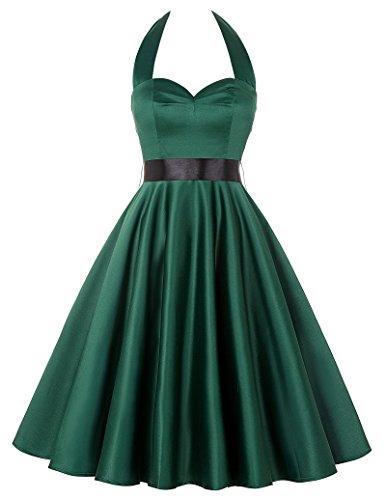 (Klassisches und ikonischen Stil Dunkelgruen Abendveranstaltung Kleid L)