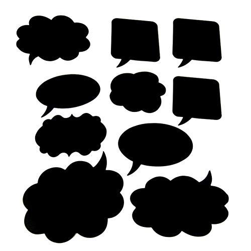 Collector Mini-Kreidetafel-Schilder – 10 Stück Wolken-Tafel Fotografie-Requisiten Dialobox DIY kleine Tafel Innovative Handschrift Tafel-Kit Hochzeit Kreative Foto Mini Kreidetafel Schilder
