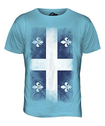 CandyMix Québec Verblichen Flagge Herren T Shirt Himmelblau