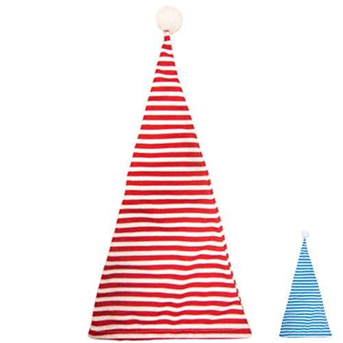 Amakando Schlafmütze Zipfelmütze rot weiß gestreift Nachtmütze Geringelt Schlafwandler Kostüm Accessoire Pyjamaparty Zubehör Nachthemdenball