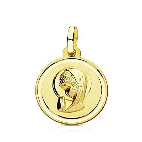 Medalla oro 9k Virgen Niña 16mm. [AB3256GR] - Personalizable - GRABACIÓN INCLUIDA EN EL PRECIO