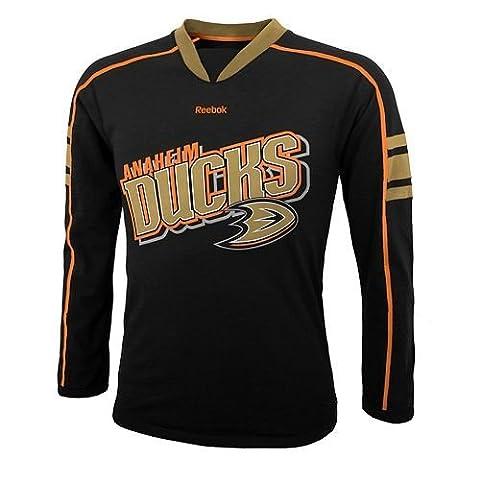 Reebok NHL Ducks d'Anaheim Big garçons jeunesse T-shirt à manches longues pour homme, noir, petit–noir