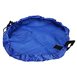 Children s Play Mat and Toys Storage Bag - 60inch Kids Playbag Toys Organizer Quick Pouch. Great for Storing Small and Medium Size Toy- Simple Portable Sturdy 60 Inch Blue
