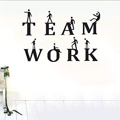 Fushoulu 85X60 Cm Teamarbeit Wandaufkleber Business Aufkleber Abnehmbare Wandbild Deco Vinyl Diy Wandtattoo Für Büro Wohnkultur
