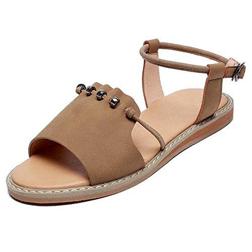 XIAOLIN Sandales de fond plat simple femelle été étudiant de mode féminine sandales Sandales de plage été féminin unique conception de style sandales élastique (taille facultative)