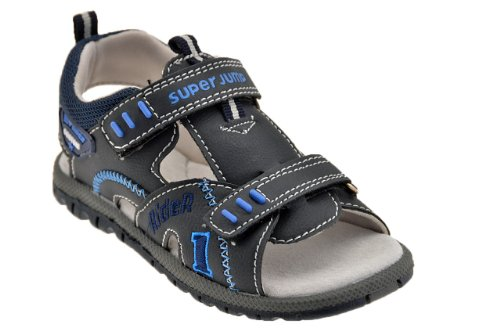 Superjump 2440 Velcro Sandales Neuf Chaussures E. Bleu