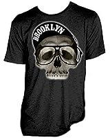 Goodie Two Sleeves Freestyle Or Bust Brooklyn Mens Tshirt Black Cap Skull