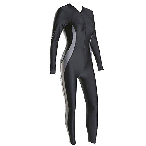 WH-IOE Frauen Wetsuit Mode Frauen Badeanzug Neoprenanzug Einteiliger Badeanzug Konservativer Sonnenschutz Langärmeliger Strandurlaub Surfing Swimwear für Surfen (Size : XXXL)
