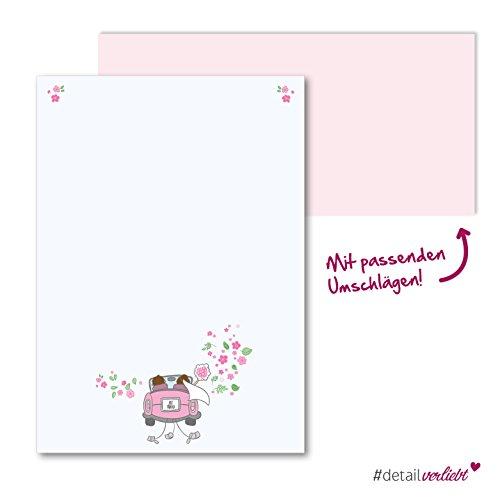 Detailverliebt! Romantisches Motivpapier, 50 Blatt im Format A4 mit passenden Umschlägen, dv_158 | Motivpapier, Briefpapier, Briefbogen, Hochzeit, Einladung, Danksagung, Glückwünsche