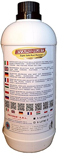 Price comparison product image EVAPO-RUST® - 1 Lt. - Waterbased selective rust remover for steel,  cast iron and chrome platings