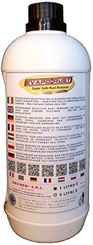 EVAPO-RUST® - 1 Lt. - Distaccante selettivo della ruggine a base acqua per ferro, acciaio, ghisa e cromature