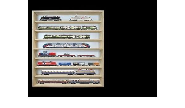 Vitrine murale  80 x 11 x 8,5 cm Rayonnage de jouet bois avec plexiglas V80.1A