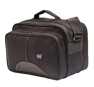 GOLDLINE Stylish Office Bag 15L/Travelling Bag/Backpack/Messenger Bag/Marketing Bag/Multipurpose Bag/Executive Bag/Satchel with Removable Shoulder Strap and Zippered Pockets Inside(33x23x20cm, Black)