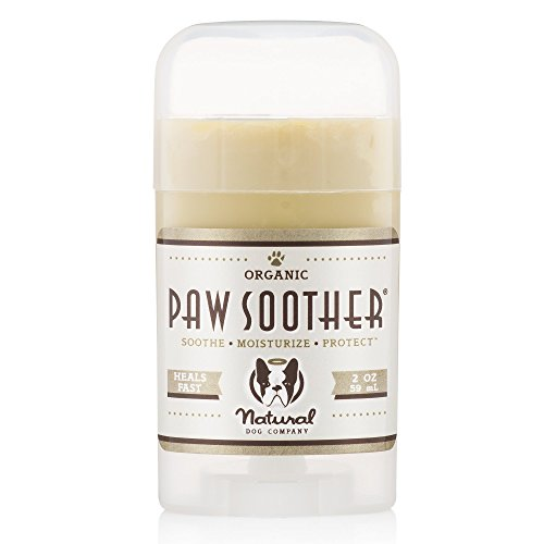 Natural Dog Company Paw Soother Organic, All-Natural | Heals Dry, Cracked, Rough Paw Pads | 2 Ounce Stick