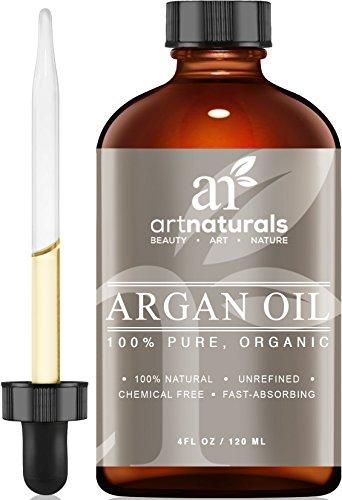 Art Naturals 100% reines Arganöl 120 ml, für Haar-, Gesicht- und Körperpflege   Unberührt & Kaltgepresst vom Kern des marokkanischen Arganbaumes   Anti-Aging   Natürlicher Feuchtigkeitsspender