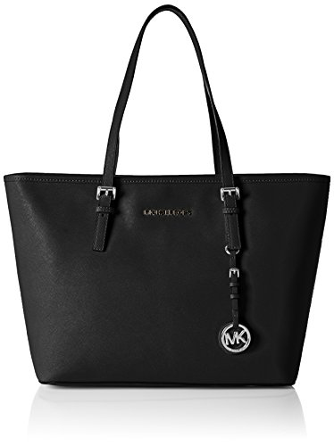 Michael Kors Damen Jet Set Travel Top-Zip Tote, Schwarz (Black), 15x26x37 - Tote-michael Handtaschen Kors