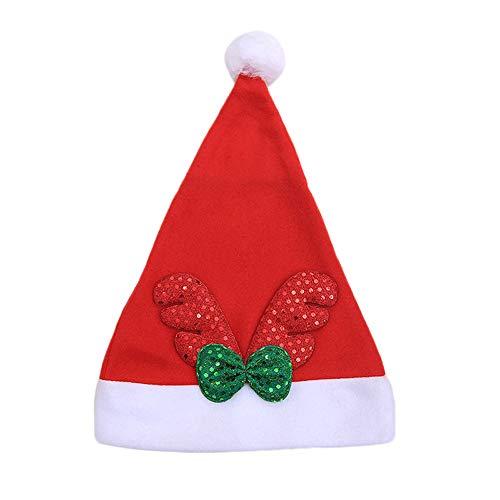 Patriot Für Erwachsene Kostüm - SuperSU Weihnachten ➱➲ 1 Stücke Elch-Geweih Dekoration Nikolausmütze Weihnachtsmütze Weihnachtsdeko Xmas Party Deko für Kinder Erwachsene Weihnachtsmann Kostüm Weihnachtsbaum