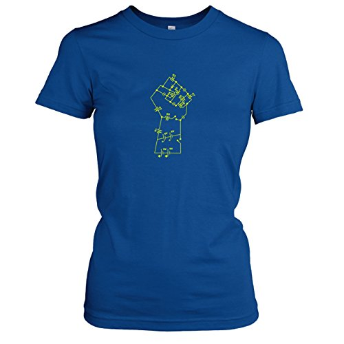 TEXLAB - Elektronik Faust - Damen T-Shirt, Größe XL, marine (Marine-elektronik-box)