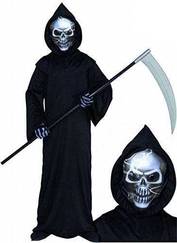 Sensemann Küstumset 3D-Maske Sense Kostüm Halloween Karneval 7-8 (Reaper Maske)