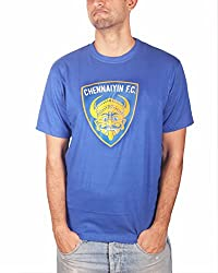 THE FAN STORE Chennaiyin FC Blue Round Neck T-Shirt ( Unisex )
