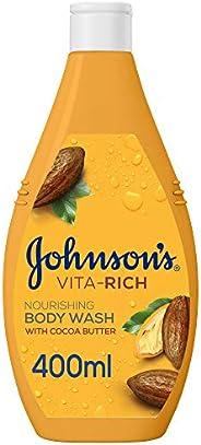 JOHNSON'S Body Wash - Vita-Rich, Nourishing Shower Gel, Cocoa Butter, 400ml