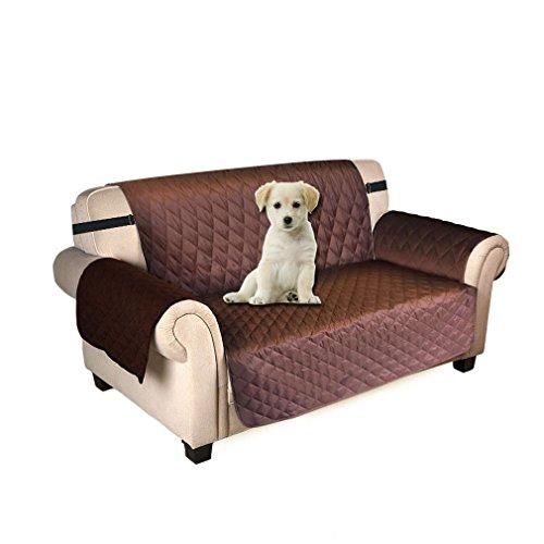 Puppymate Sofaschoner Sofabezug 3 Sitzer Wasserdicht Anti-Rutsch Schwarz/Grau/Koffee (Koffee)