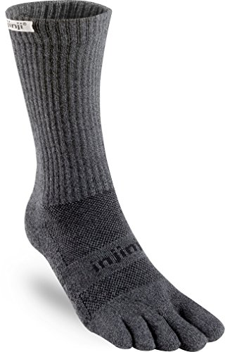 Injinji Trail Crew Xtralife Midweight Socks Men Granite Schuhgröße S   EU 37-40 2018 Laufsocken