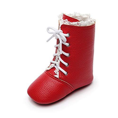 Baby Stiefel,TTLOVE Mädchen Jungen rutschfest Winter Weiche Warm Schnee Schuhe FüR Neugeborene Hausschuhe Krabbelschuhe GefüTtert Babyschuhe (rot,L:12CM4.7) -