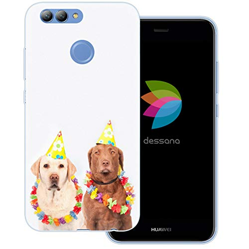 Novos Kostüm - dessana Fasching Party transparente Schutzhülle Handy Case Cover Tasche für Huawei Nova 2 Kostüm Hunde