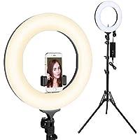 LED Ring Light, Houzetek Luce per Video Fotocamera Foto Dimmerabile, 65W 2700k - 5500 K,Per Foto in Riprese, Video, Blog Video, Interviste(14 Pollici)