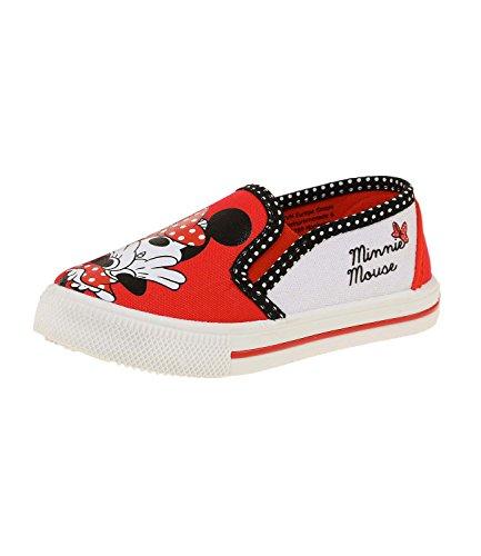 Disney Minnie Mädchen Sneaker - rot - (Maus Schuhe Minnie)