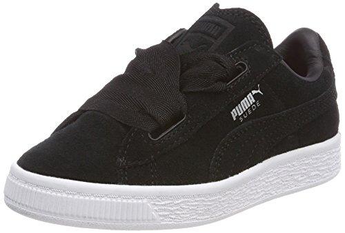 Puma Mädchen Suede Heart Valentine PS Sneaker, Schwarz Black, 34 EU