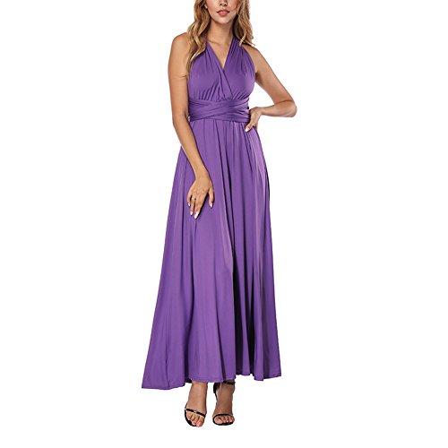 Damen Sommer Kleid Elegante Cocktail Party Floral Kleider Maxi ärmellosen Chiffon Abendkleid...