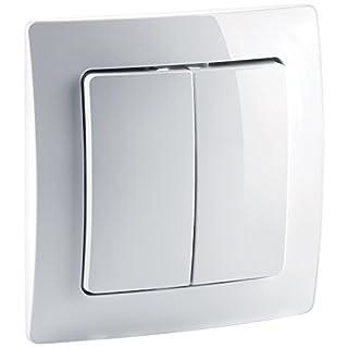 devolo Home Control Funkschalter (Z-Wave Hausautomation, Haussteuerung per iOS/Android App, Smart Home Aktor, Aufputz Installation, einfache Anbringung) weiß