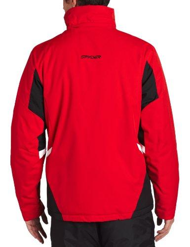 Spyder Men 's Sentinel Jacket Rot/Schwarz/Weiß