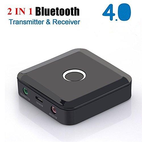 2 in 1 Bluetooth Transmitter Receiver, 3,5mm Aux Bluetooth Audio Adapter für TV Auto Stereo Kopfhörer Telefon, Paar 2 Auf einmal - CSR Chip Inside